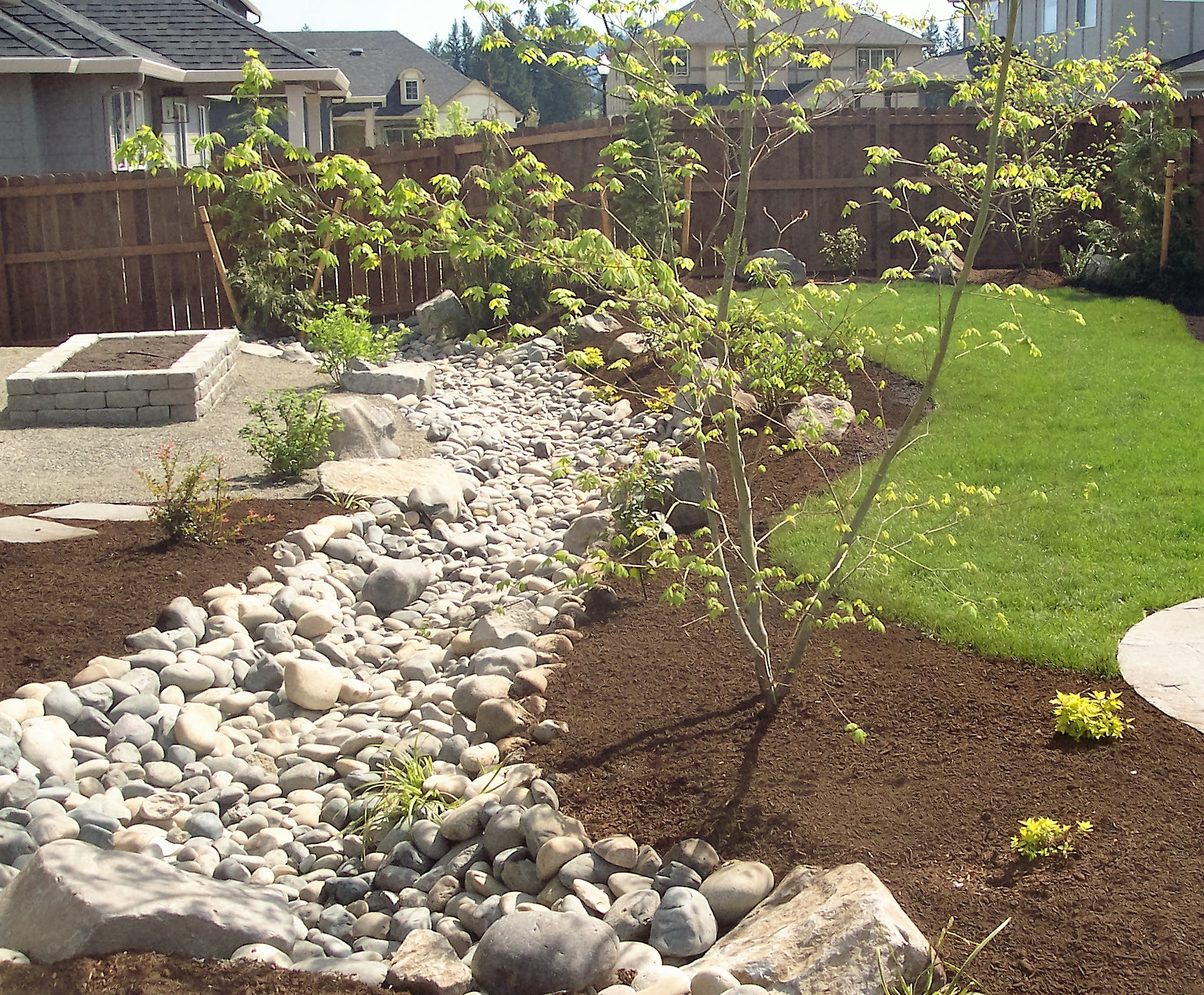 Dry Creek Bed, Drainage Solution, Solving Water Problems